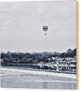 Boathouse Row And The Zoo Balloon Wood Print