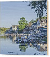 Boathouse Row In September Wood Print