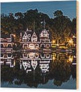 Boathouse Row Panorama Wood Print