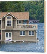 Boathouses Wood Print