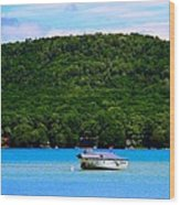Boating At Sleeping Bear Dunes Lake Michigan Wood Print