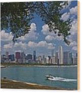 Boating In Chicago  Wood Print