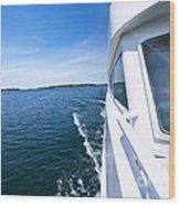 Boating On Lake Wood Print