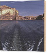 Boating On The Colorado River In Glen Canyon Utah Usa Wood Print