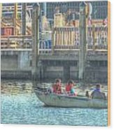 Boating With The Kids Wood Print