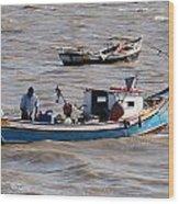Boatman Wood Print