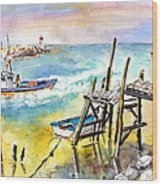 Boats And Boardwalks By Brittany 01 Wood Print