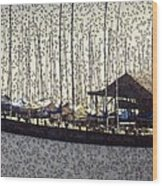 Boats And Bubbles 2 Wood Print