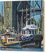 Boats And Tugs Hdrbt3221-13 Wood Print