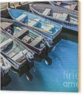 Boats At Bar Harbor Maine Wood Print