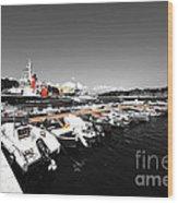 Boats At Brindisi Wood Print