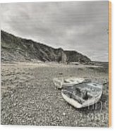 Boats At Bude  Wood Print