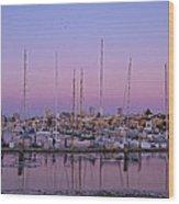 Boats At Dusk 1 Wood Print