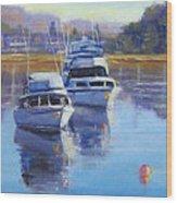 Boats At Merimbula Australia  Wood Print