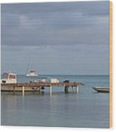Boats At Rest Wood Print by Eric Glaser