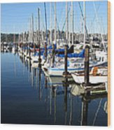 Boats At Rest. Sausalito. California. Wood Print