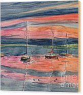 Boats At Skaneateles Lake Ny Wood Print