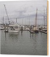 Boats At St. Augustine Harbor  Wood Print