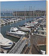 Boats At The San Francisco Pier 39 Docks 5d26004 Wood Print