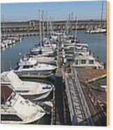 Boats At The San Francisco Pier 39 Docks 5d26005 Wood Print