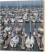 Boats At The San Francisco Pier 39 Docks 5d26009 Wood Print