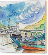 Boats In Barca De Alva 02 Wood Print