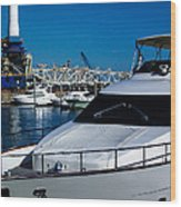 Boats In Port 2 Wood Print