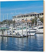 Boats In Port 5 Wood Print