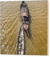Boats In The Mekong River - Vietnam Wood Print