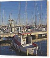 Boats Of Badalona Marina Wood Print