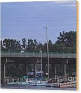 Boats Of Huron Ohio Wood Print by Jackie Bodnar