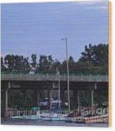 Boats Of Huron Ohio Wood Print