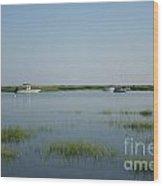 Boats On A Calm Bay.02 Wood Print