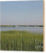 Boats On A Calm Bay.03 Wood Print
