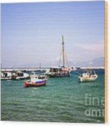 Boats On The Aegean Sea 1 - Mykonos - Greece Wood Print