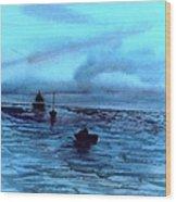 Boats On The Chesapeake Bay Wood Print