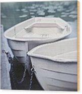 Boats Wood Print by Priska Wettstein