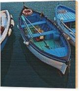 Boats Trio Wood Print