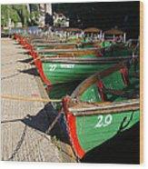Rowboats Wood Print