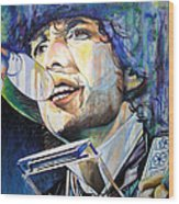 Bob Dylan Tangled Up In Blue Wood Print