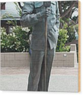 Bob Hope Memorial Statue Wood Print