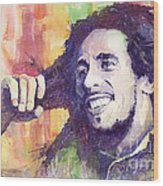 Bob Marley 02 Wood Print