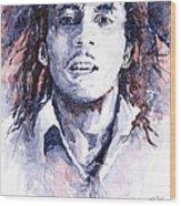 Bob Marley 3 Wood Print