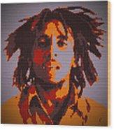 Bob Marley Lego Pop Art Digital Painting Wood Print