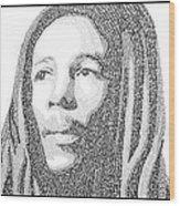 Bob Marley Painting Wood Print