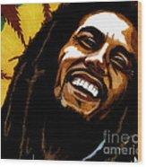 Bob Marley Rastafarian Wood Print