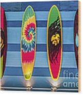 Bob Marley Surfing Display Wood Print