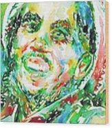 Bob Marley Watercolor Portrait.2 Wood Print