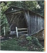 Bob White's Covered Bridge Wood Print