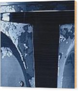 Boba Fett Helmet 104 Wood Print by Micah May
